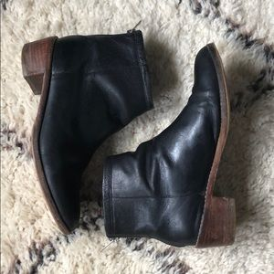 Loeffler Randall Black Leather Ankle Booties